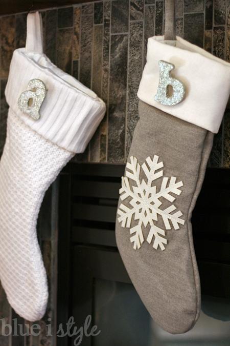 {seasonal style} DIY Christmas Stocking Monogram Pins