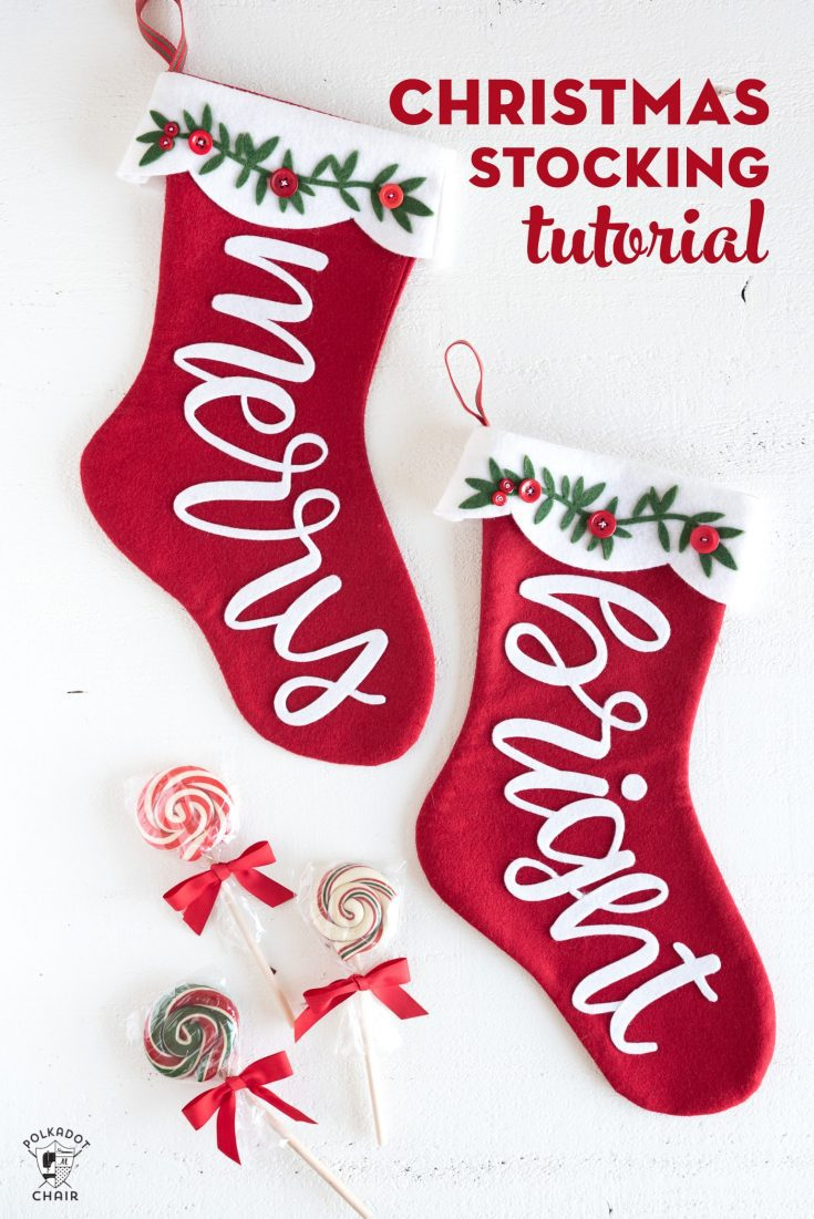 Merry & Bright Christmas Stocking Pattern, a Cricut Maker Project