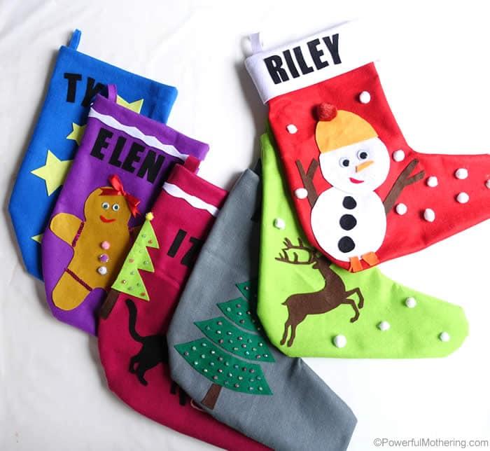 DIY Christmas Stockings - No Sew