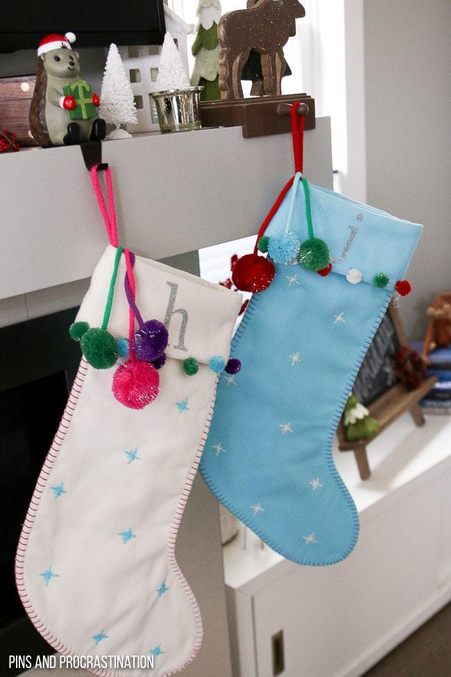 DIY Personalized Christmas Stockings