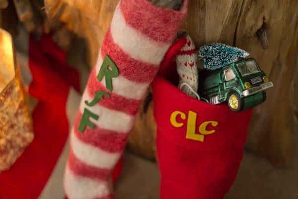 DIY Monogrammed Stockings with West Elm
