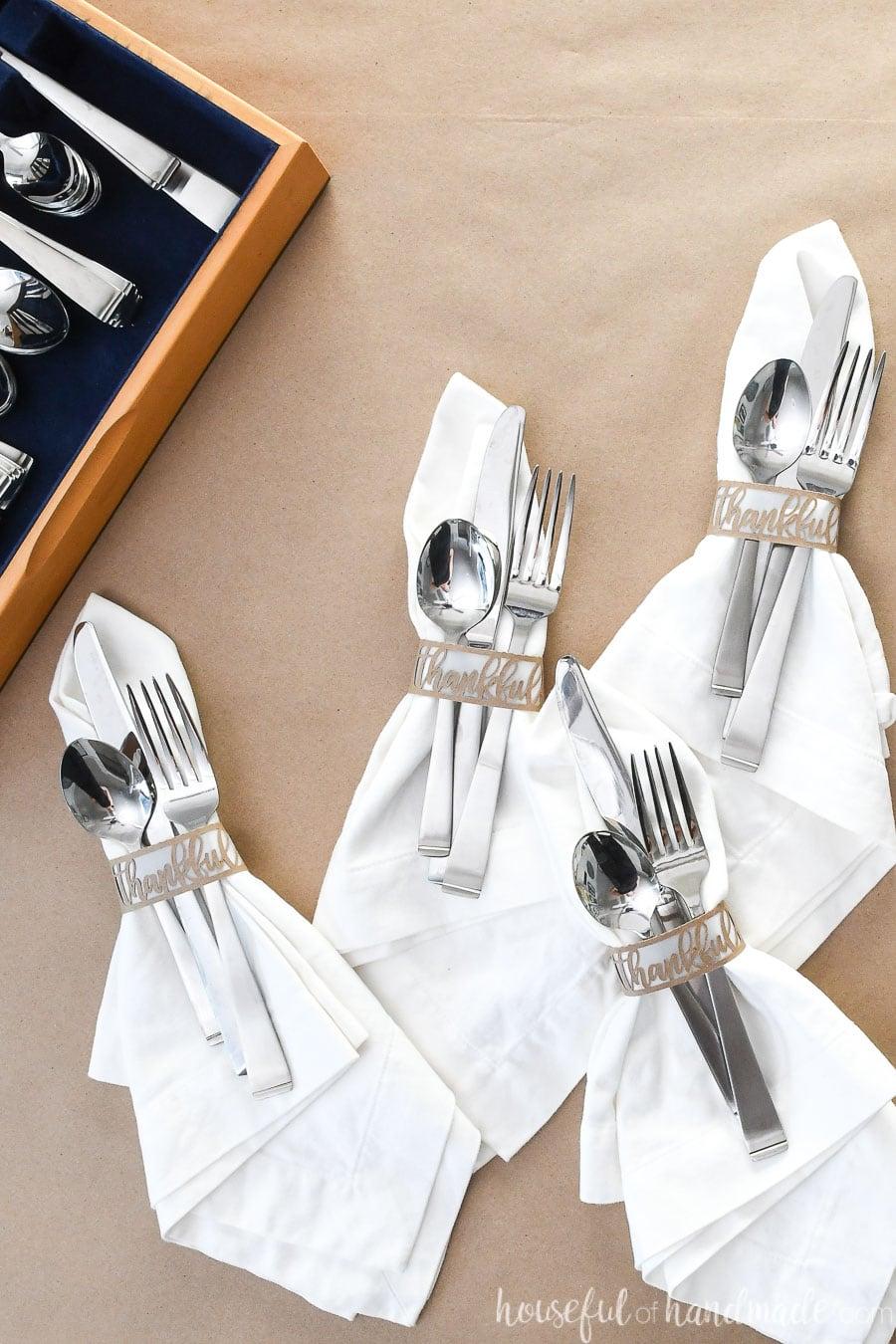 Easy Diy Thanksgiving Napkin Rings Houseful Of Handmade