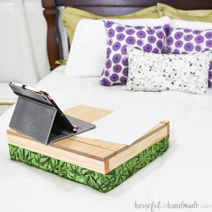 Easy Lap Desk with Storage: DIY Gift Idea
