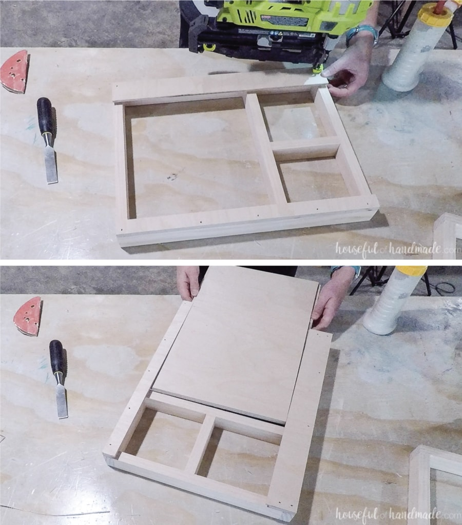 Adding the cover to the sliding top lap desk.