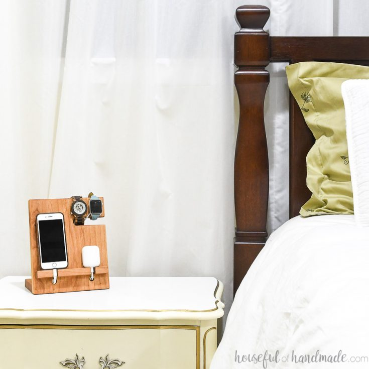 #3- Nightstand Valet Docking Station: DIY Gift Idea
