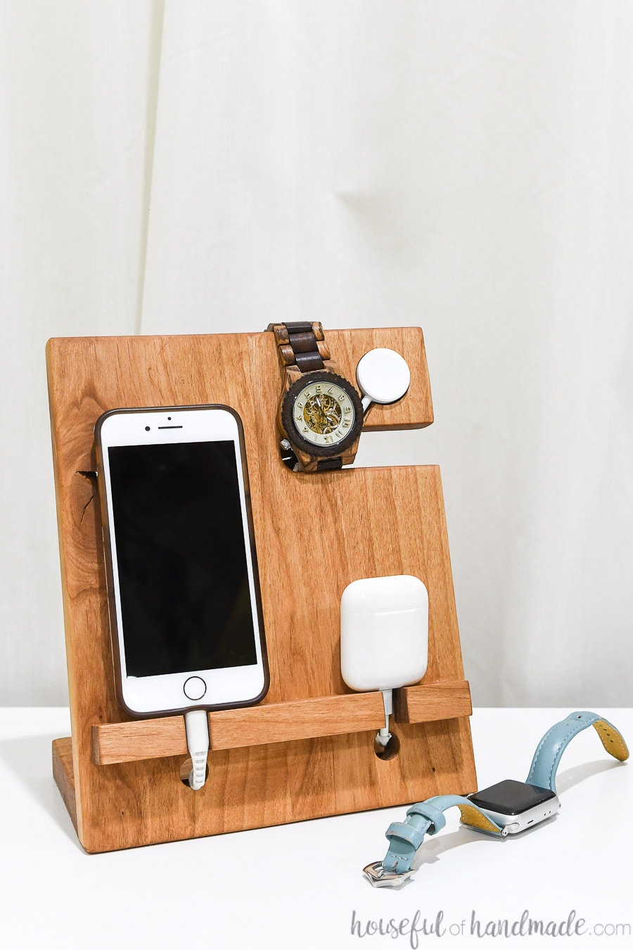 Nightstand Valet Docking Station Diy Gift Idea Houseful