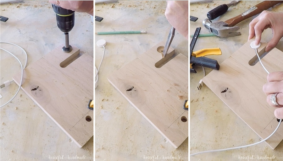 Making a Apple Watch charging port on the nightstand valet.