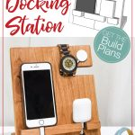 Sketchup drawing of the DIY docking station next to the completed build.