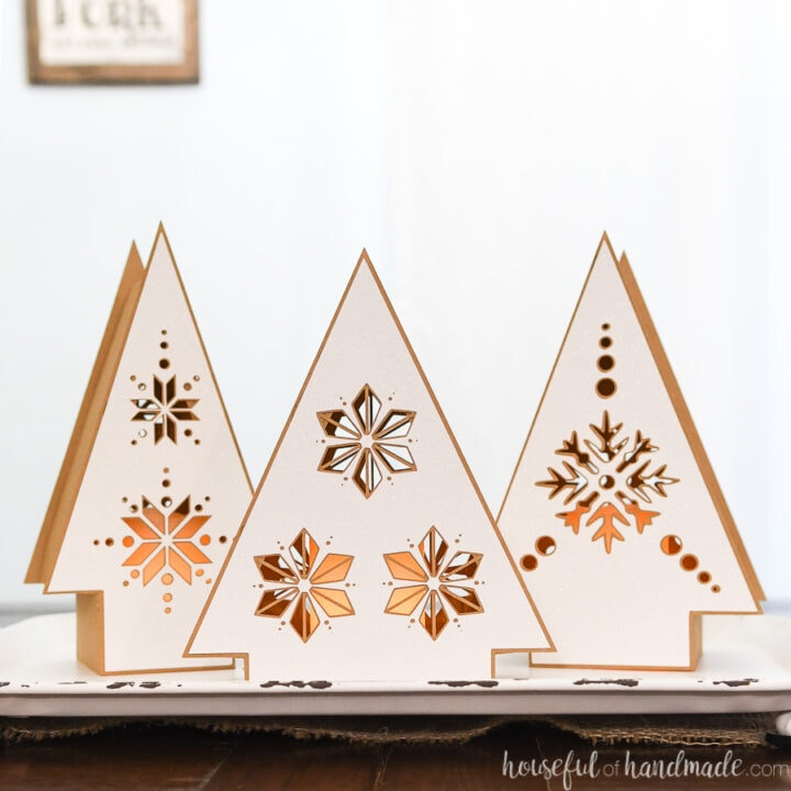 7 Days of Paper Christmas Decor: Nordic Christmas Tree Lanterns