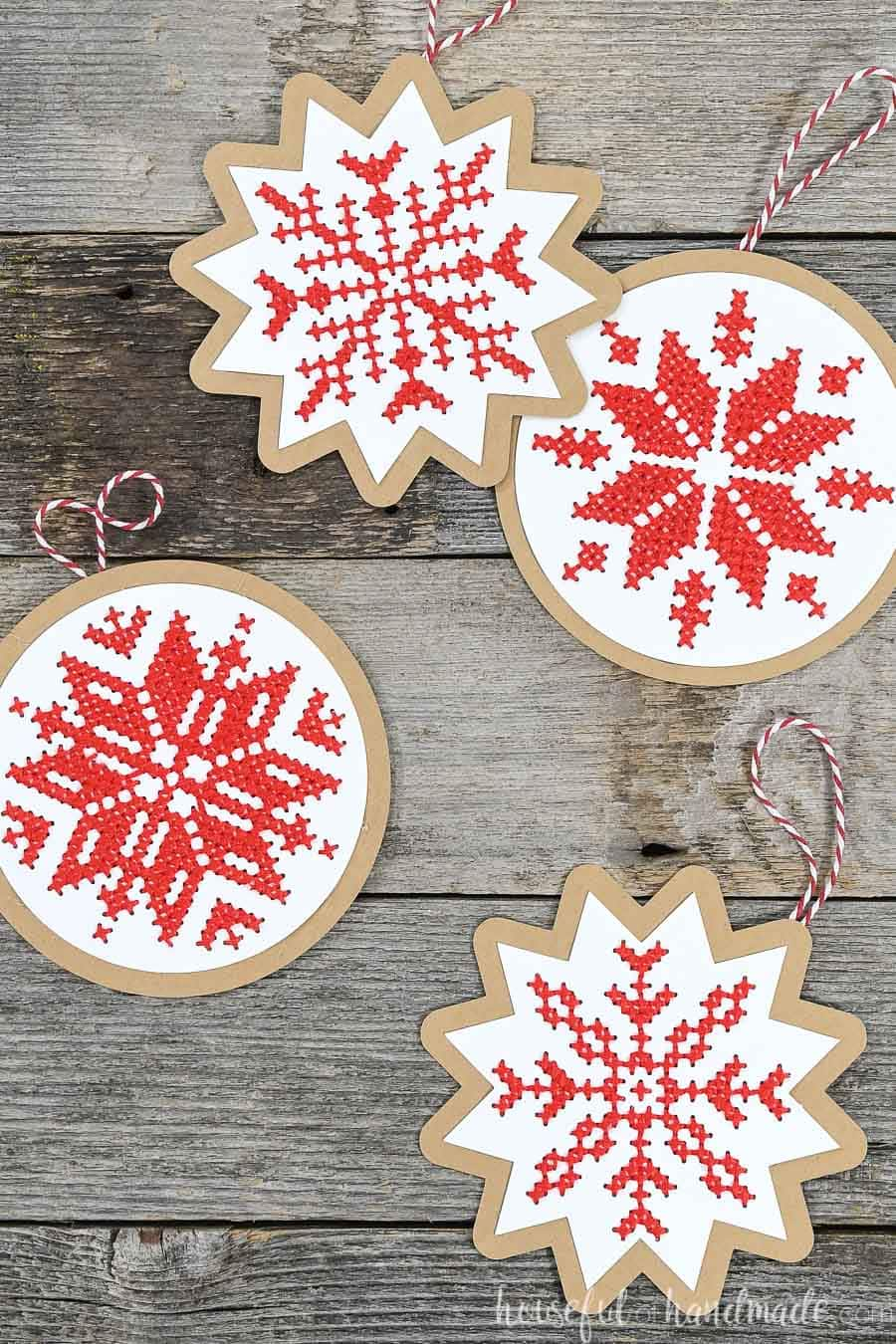 Cross-Stitch Snowflake Paper Ornament Cut Files - Houseful ...