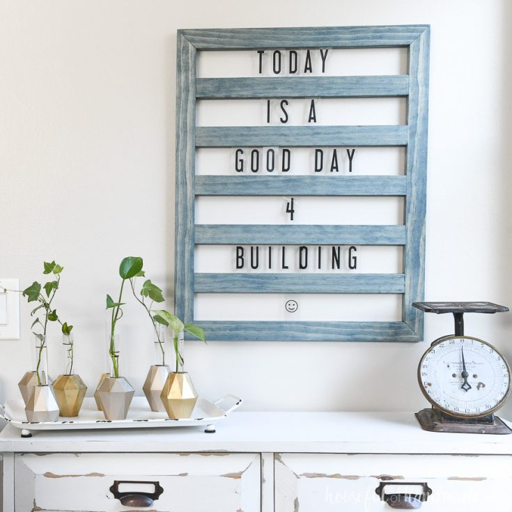 #8- Sliding Letter Board: DIY Gift Idea