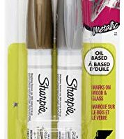 Sharpie Oil Based Paint Markers, Medium Tip, Metallic Gold/Silver, Pack of 2