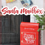 Empty cereal boxes and then picture of DIY santa mailbox made from them.
