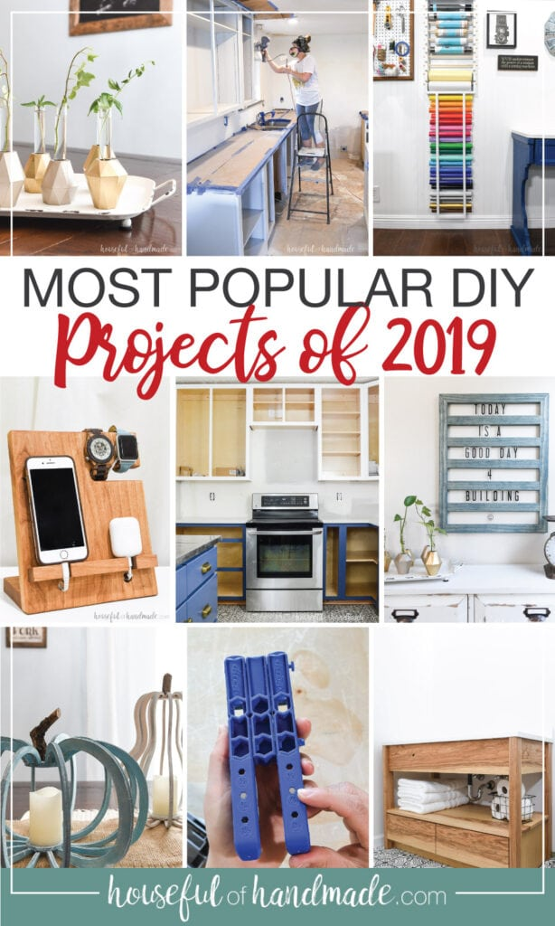 Collage photo of the most popular DIY projects of 2019.