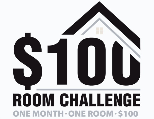 $100 Room Challenge logo.