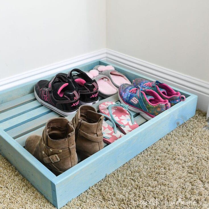 Easy to Build Shoe Organizer Tray
