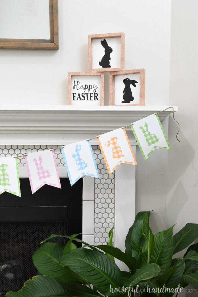Easter decor made out of paper.