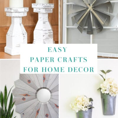 paper crafts for home decor collage of 4