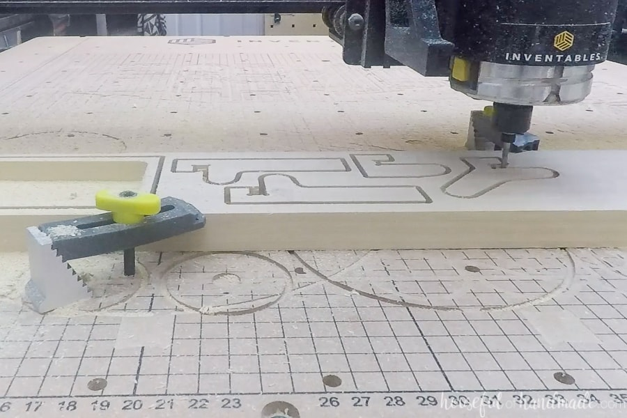 X-Carve carving out the storage components from poplar.