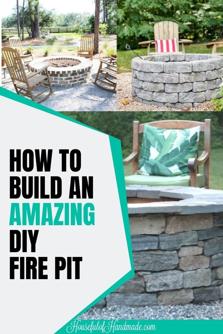 diy fire pit collage