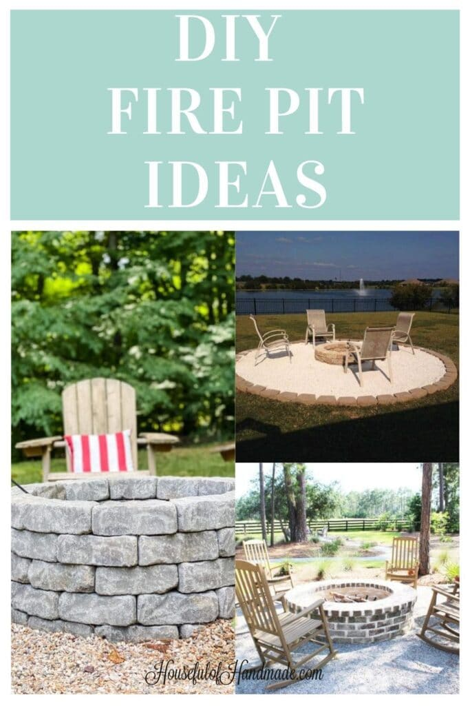 diy fire pit ideas collage of 3