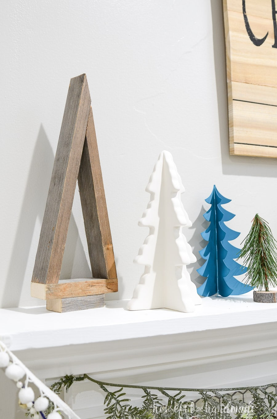 Easy Wood Christmas Trees Made From 1x2s Houseful Of Handmade