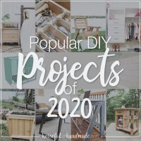 Pictures of the top 10 popular DIY projects of 2020 with a dark overlay and white test: Popular DIY projects of 2020.