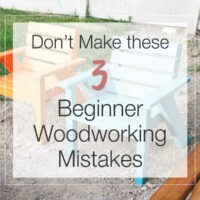 Easy DIY kids patio chairs with text overlay: Don't Make these 3 beginning woodworker mistakes.